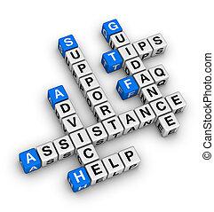 helpen, en, steun