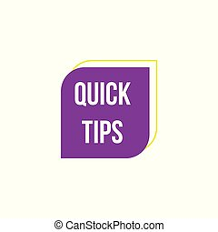 Helpful advice symbol the Quick tips badge vector illustration isolated.