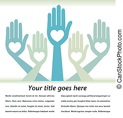 Helpful hands design. - Helpful hands design with text space...