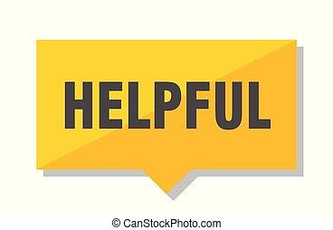 helpful price tag - helpful yellow square price tag