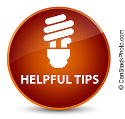 Helpful tips (bulb icon) elegant brown round button