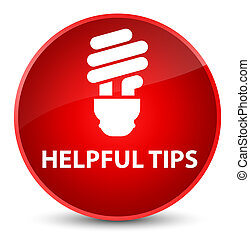 Helpful tips (bulb icon) elegant red round button