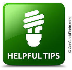 Helpful tips (bulb icon) green square button