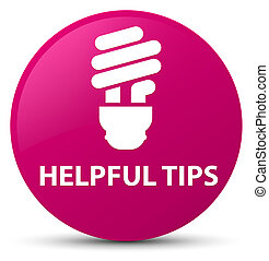 Helpful tips (bulb icon) pink round button