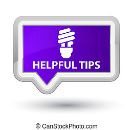 Helpful tips (bulb icon) prime purple banner button