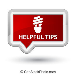Helpful tips (bulb icon) prime red banner button