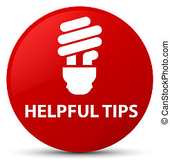 Helpful tips (bulb icon) red round button