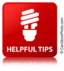 Helpful tips (bulb icon) red square button