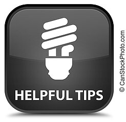 Helpful tips (bulb icon) special black square button