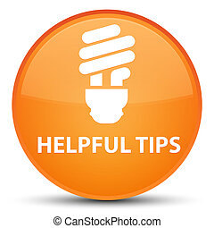 Helpful tips (bulb icon) special orange round button