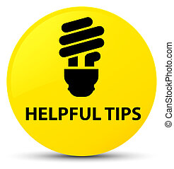 Helpful tips (bulb icon) yellow round button