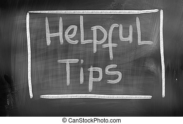 Helpful Tips Concept