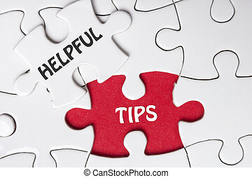 Helpful Tips. Missing Piece Jigsaw Puzzle with word