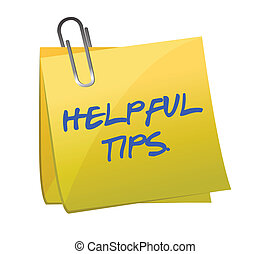 helpful tips post it illustration design over white