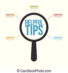Helpful Tips Word Magnifying Glass