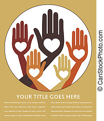 Helpful united hands design. - Helpful united hands design...