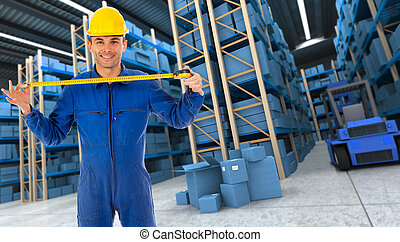 Helpful Warehouse worker