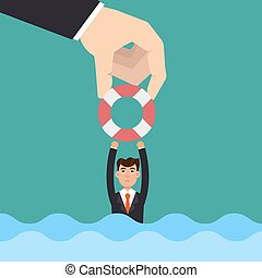 Helping Business. Investment concept. Vector illustration.