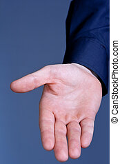 Helping hand - Businessman hand offered for help and...