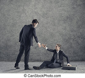 Conceptual photo relating to helping a business or person in need of help.