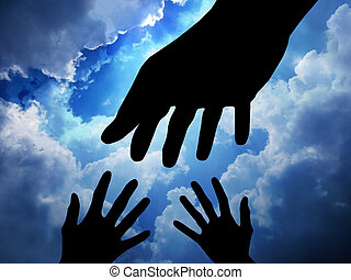 Helping hand - Helping Hand with the Sky Background...