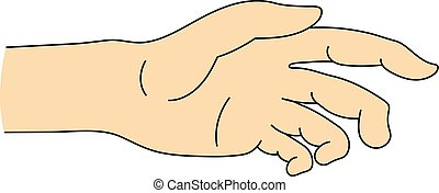 Helping Hand Icon isolated on white background. Part of Body Symbol. Vector illustration for Your Design.