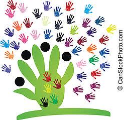 Helping Hand logo Kamanda