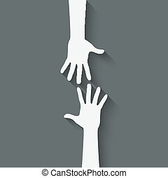 helping hand symbol - vector illustration. eps 10