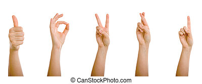 Helping Hand Thumbs Up Positiv Sign Symbol Isolated