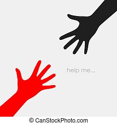 Helping hand vector icon
