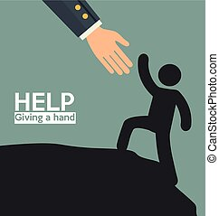 helping hands concept  icon