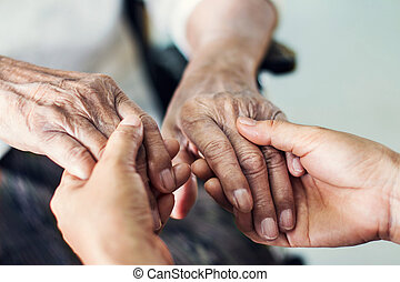 Helping hands elderly home care.