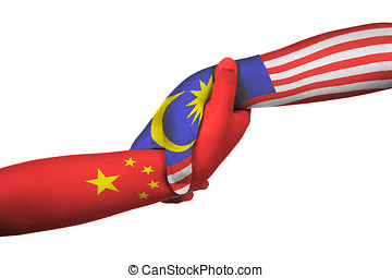 Helping hands of China and Malaysia
