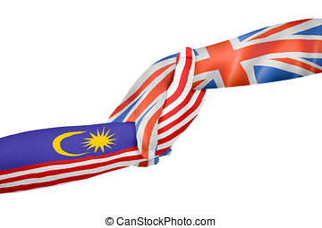 Helping hands of United Kingdom and Malaysia