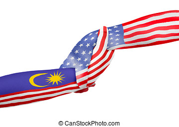Helping hands of United States of America and Malaysia