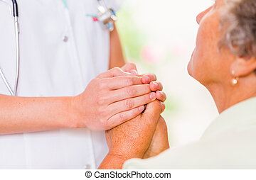 Helping hands - Photo of the young doctor hands protects the...