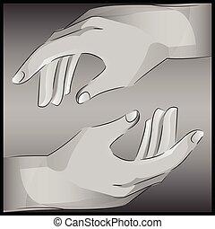 helping hands reaching