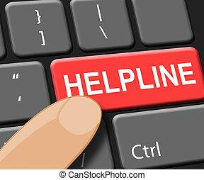 Helpline Key Shows Faq Advice 3d Illustration