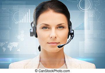 helpline - business, office, technology, future concept -...