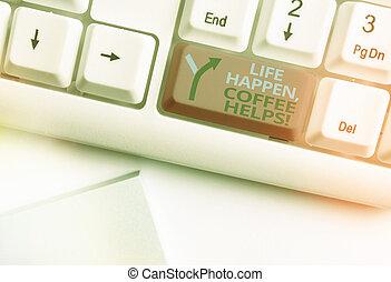 helps., affari, happen, caldo, concetto, scrittura, testo, ...