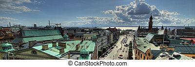 Helsingborg HDR pano - A high dynamic range panoramic image...