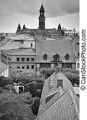 helsingborg, vista elevata, attraverso, città