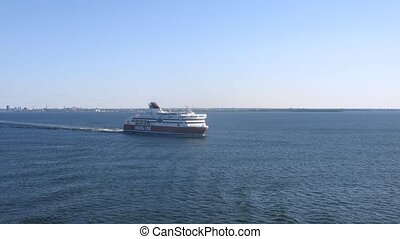 Ferry Viking Line departs from Helsinki - HELSINKI - AUG 1:...