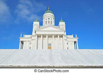 helsinki, cathédrale, hiver