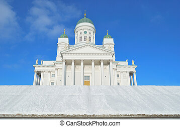 Helsinki Cathedral in winter - Helsinki. Very beautiful ...