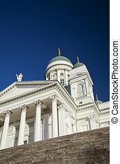 Helsinki city cathedral in senate square finland