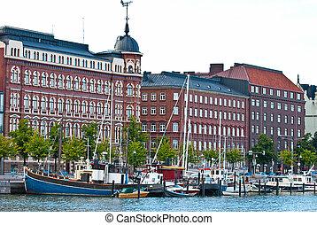 Helsinki embankment. - Embankment of Helsinki. Summer...
