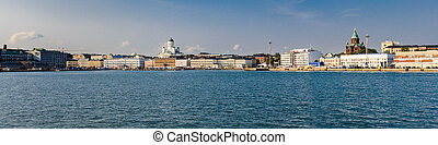 Helsinki seafront panorama - Panorama image of Helsinki's...