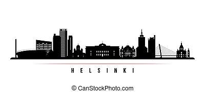 Helsinki skyline horizontal banner.
