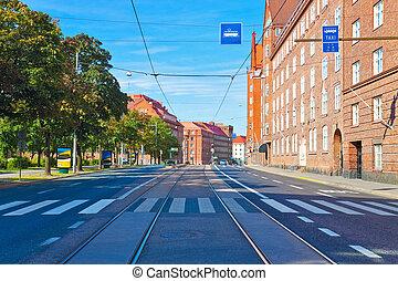helsinki, strada città, finlandia